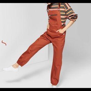 Wild Fable Rust Overalls Sleeveless Jumpsuit